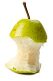 Eaten pear Royalty Free Stock Photos