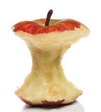 Eaten red apple Stock Image