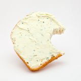 The eaten sandwich. On a white background Royalty Free Stock Photos