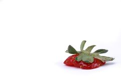 Eaten Strawberry Stock Photography