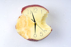 Eaten time. Apple of Time. Series of Eaten time Royalty Free Stock Photo