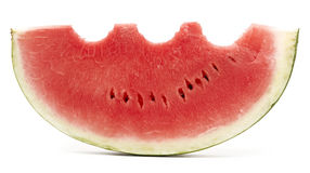 Eaten watermelon Stock Image