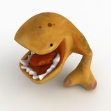 Eater, Mouth Open. Big Mouth Cartoon Creature, 3d, isolated Royalty Free Stock Photos