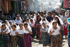 Eater procession in guatemala Stock Photo