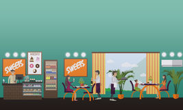 Eatery concept vector illustration in flat style. Royalty Free Stock Photo