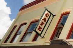 Eatery för restaurang för lokal för liten stadkafétecken stads- royaltyfri foto