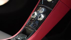 Eather interior of a sports car