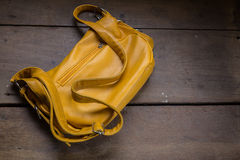 Eather school bag Royalty Free Stock Photo