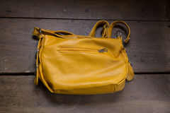 eather school bag Royalty Free Stock Image