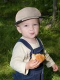eathing rulle för pojke Royaltyfria Foton