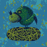 Eati dell'uccello del fumetto un uccello Fotografia Stock