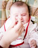 Eating. Baby eating Stock Image