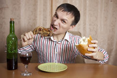 Eating. Stock Photo