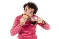 eating stock afbeelding