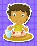 eating ilustración del vector