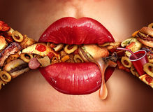 Eating Addiction Concept Royalty Free Stock Photo