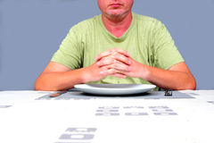 Eating Alone Stock Photography