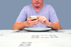 Eating Alone Royalty Free Stock Photography