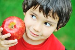 Eating an apple Royalty Free Stock Photo