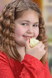 Eating Apple Stock Images