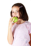 Eating apple Royalty Free Stock Images