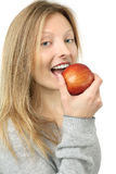 Eating an apple Stock Photography