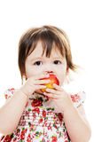 Eating Apple Stock Photography