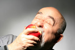 Eating apple royalty free stock photos