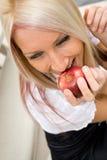 Eating an Apple Stock Photos