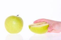 Eating apples. Royalty Free Stock Photo