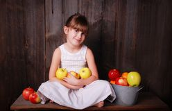 Eating apples Royalty Free Stock Photo