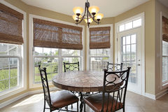 Eating area in luxury home Royalty Free Stock Photos