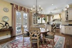 Eating area of luxury kitchen Stock Photo