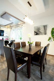 Eating area in modern house Stock Photography