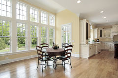 Eating area in new construction home Royalty Free Stock Image