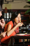 Eating in asian Restaurant Royalty Free Stock Image