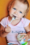 Eating baby Stock Photo