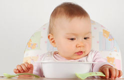 Eating baby Stock Photography