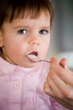 Eating baby Stock Photos