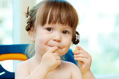 Eating Baby Girl Stock Photography