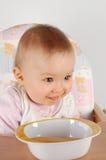 Eating baby girl Royalty Free Stock Photo