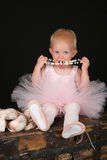 Eating ballerina Royalty Free Stock Photography