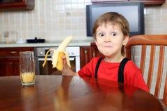 Eating a banana Royalty Free Stock Photography