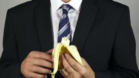 Eating a banana stock video