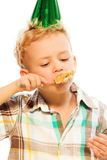 Eating birthday cake Royalty Free Stock Photography
