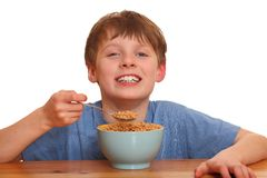 Eating boy Royalty Free Stock Images
