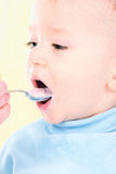 Eating  boy Royalty Free Stock Photography