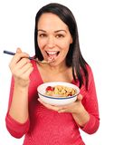 Eating breakfast Royalty Free Stock Photo