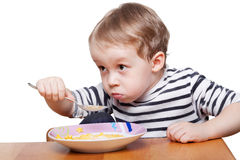 Eating breakfast Stock Images