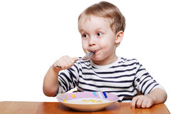 Eating breakfast Royalty Free Stock Image